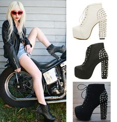 What+a+sexy+club+boot,+with+exaggerated+rivet+at+the+back,+full+of+punk+style.+With+this+boots+you+can+be+the+most+shining+one+in+the+club+with+no+effort.  Gender:+Women's  Category:+Boots  Occasion:+Casual,Club,Street,Prom  Styles:+Heel  Heel+Height:+12.5cm+(4.92in)  Platform+Height:...