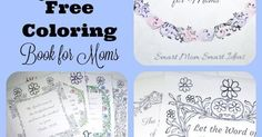 Free adult coloring book | Adult coloring book | coloring book for mom | self-care for mom