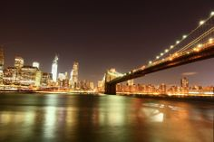 Brooklyn bridge night photography at www.rememberforever.co NY
