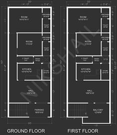 20x50 House plan with 3d elevation option b 2bhk House Plan, Narrow House Plans, Three Bedroom House Plan, Modern House Plans, Small House Plans, 2 Storey House Design, House Front Design, Small House Design, 40x60 House Plans