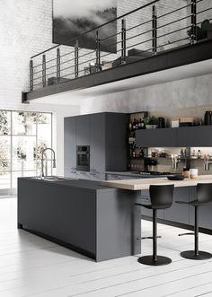 White Kitchen Wall with Dark Cabinet Beautiful 20 Dark Kitchen Ideas for Every Kitchen Size Kitchen Size, Life Kitchen, Smart Kitchen, Crazy Kitchen, Kitchen Themes, Kitchen Colors, Kitchen Ideas, Kitchen Decor, Rental Kitchen