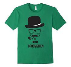 Mens Groomsmen Tee Shirt Bachelor Party T-shirt Tee Shirts, Tees, Branded T Shirts, Groomsmen, Fashion Brands, Engagement, Amazon, Random, Gift