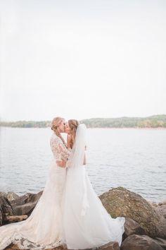 State Park Georgia Lesbian Wedding | Equally Wed - LGBTQ Weddings