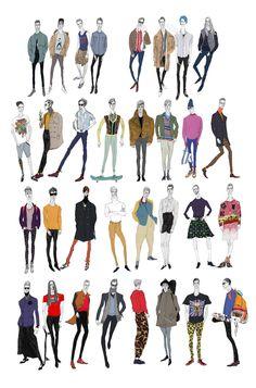 what do boys wear #1 by jiiakuann , via Behance