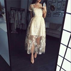 Applique Prom Dress,Short Sleeve Prom Dress,Fashion Prom Dress,Sexy Party Dress,Custom Made Evening Dress - Prom Dresses Design Elegant Dresses, Pretty Dresses, Sexy Dresses, Beautiful Dresses, Fashion Dresses, Formal Dresses, Midi Dresses, Short Sleeve Prom Dresses, Evening Dresses With Sleeves