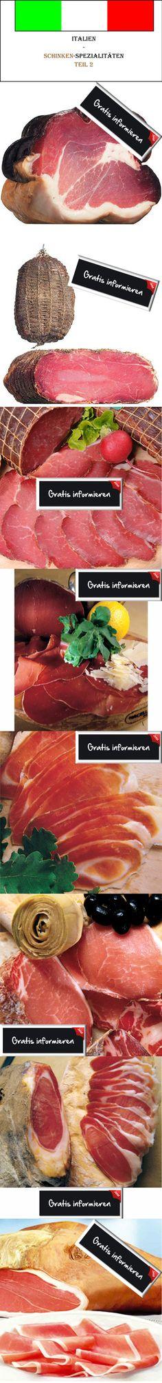 8 Sorten italienischer Schinken auf einem Blick - Hier wird es richtig lecker! Hier klicken: http://blogde.rohinie.com/2013/01/schinken/  #Italien #Suedtirol #Schinken #Feinkost #Toskana