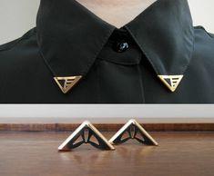 Silver collar tips, via Etsy.