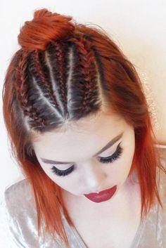 braid fashion nails makeup Lovely Hairstyles with Braids for Short Hair picture 3