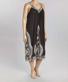 Look at this #zulilyfind! Black Abstract Yoke Dress - Plus by Life and Style Fashions #zulilyfinds