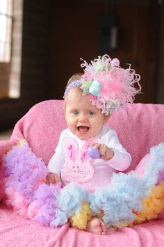 Baby Girl Easter Outfit - Hot Pink Chickie - hot pink and yellow ...