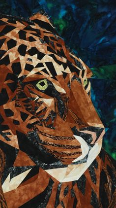 Jaguar - Foundation Paper Piecing Pattern - x 11 Quilt - (Fabric Kit Available)