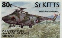 St Kitts-Nevis - Westland Whirlwind Series 3 HAR 10 helicopter Westland Whirlwind, Countries Around The World, Series 3, Stamp Collecting, St Kitts And Nevis, Postage Stamps, Airplanes, Astronomy, Planets