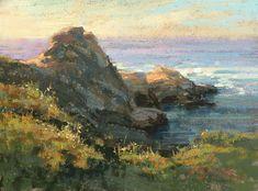 Last Light Pt. Lobos...by Kim Lordier, California Plein Air artist.