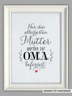 """""""MAMA und OMA"""" Kunstdruck, Muttertag Geschenk von Smart-Art Kunstdrucke auf…"""