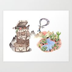 Let's Go Adventuring Art Print by Brooke Weeber - $16.00