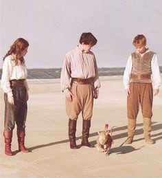 Lucy, Edmund, Eustace, and Reepicheep