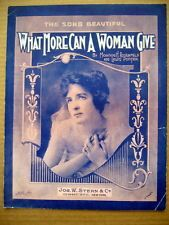 What More Can A Woman Give? sheet music - Google Search
