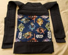 Mei Tai style baby carrier, handmade. Navy  blue straps & Star Wars pattern. on Etsy, $59.26