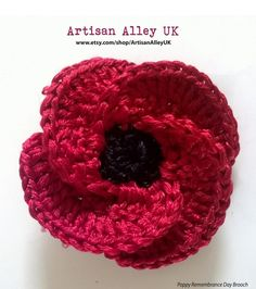 UK Handmade Autumn showcase 2016 by UK Handmade - issuu Knitted Flowers, Flower Crochet, Crochet Top, Crochet Poppy Free Pattern, Joining Crochet Squares, Remembrance Day Poppy, Knitting Patterns, Crochet Patterns, Poppy Brooches