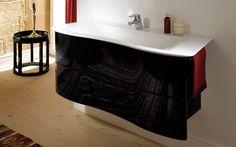 Burgbad Ella | Espace Aubade Meubles salle de bains noirs brillants