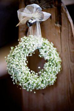 Dekoration Trauung Weiß und Grün