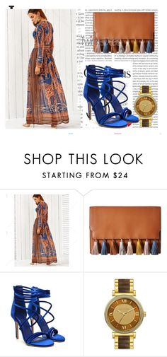 """""""TweankleDeals"""" by spolyvore1 ❤ liked on Polyvore featuring Oris, Rebecca Minkoff, Michael Kors, Beauty, Blue, nature, brown and Time"""