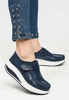 Mocasini piele naturala Justina Navy Lei, Mary Janes, Sneakers, Shoes, Fashion, Tennis, Moda, Slippers, Zapatos