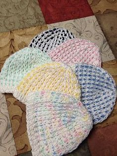 I saw this stitch on a baby cardigan pattern and thought it would make a cute hat. It does! The pattern is written for a newborn, but increasing the cast on in increments of 10 will work to make larger sizes.