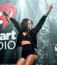 Getting hot in there: Demi Lovato upted the sizzle factor with some new wardrobe elements ...