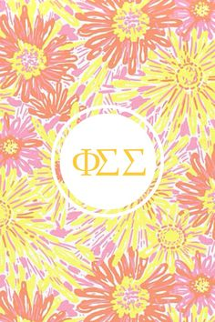 Phi sigma sigma Lilly monogram iPhone background