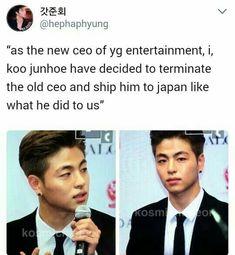 Thank u god make it happen pls K Meme, Funny Kpop Memes, Bts Memes, Sassy Diva, Koo Jun Hoe, Ikon Kpop, Kim Hanbin, Kpop Guys, Seungri