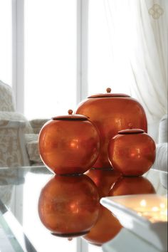 Photo of copper pots from the La Residence 5 Star Luxury Hotel Suites in Mykonos Boutique Shop.