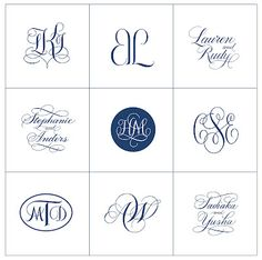 Monograms, monograms!  Want to see more?  http://deborahnadel.com/gallery-monograms.html