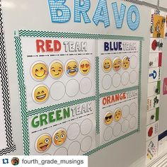 Loving how @fourth_grade_musings set up her emoji teams! It looks great! Thanks for sharing!  #Repost @fourth_grade_musings with @repostapp. ・・・ Loving the new bravo system! Thanks to @loveandlearninginfifth and #teacherspayteachers #iteachfourth #teachersofinstagram