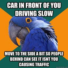 I totally do this! I hate it when people hold up traffic