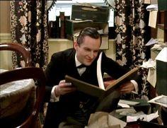 Sherlock reading his favorite story