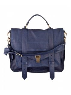 Proenza Schouler PS1 Large Leather Midnight