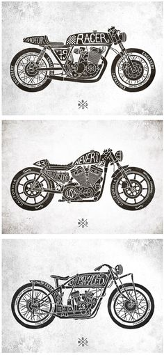 CAFE RACER MOTORCYCLES — CFRC :: Hand-​lettering & typography from BMD Design.