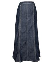 The Skirt Site. Modest. Long jean skirt. Denim skirt