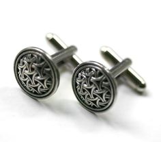 Celtic Eternity Knot Cuff Links by Robin Hood Couture