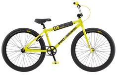GT's Pro Series Heritage 26 is a BMX bike that was built purposefully to help you hone your skills as you raise it up in the streets. Available in Gloss GT Yellow. Available at Bike Attack Santa Monica, Playa Vista, Culver City, Los Angeles. Bmx Bicycle, Bmx Bikes, Cool Bikes, Power Series, Uk Images, Bottom Bracket, Electric Bicycle, Cruise Control, Bicycle Design