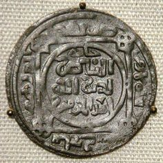"""Mongol """"Great Khans"""" coin, minted at Balkh, Afghanistan, AH 618, 1221 CE."""