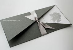 silver tree invitation