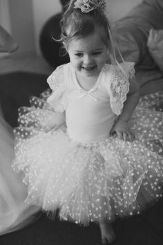 heart dot tutu for the flower girl, photo by Bek Grace http://ruffledblog.com/garden-queensland-wedding #flowergirl #wedding #tutu