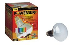 $42.64-$96.92 The PowerSun™ UV is a self-ballasted mercury vapor lamp which emits UVA, UVB and heat all in one lamp! Fits into a standard ceramic socket. (No ballast needed.) The 160 Watt projects UVB up to several feet from the lamps surface and is ideal for large terrariums or bird aviaries. Features include quality nickel plated threads to prevent corrosion, and a full one year warranty!