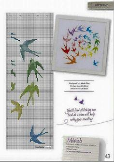 Kanaviçe kuşlar tablo