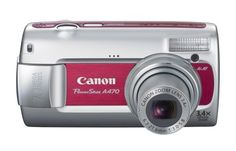 Canon PowerShot A470 7.1 MP Digital Camera with 3.4x Optical Zoom (Red) | reviews | Order