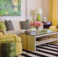 Design by Phoebe Howard.  Madeline Weinrib Black and White Versa Carpet