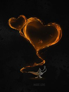 De la lámpara de Aladino...  Create a Magical Flaming Heart Illustration in Photoshop   Psdtuts+