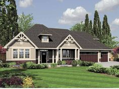 Eplans Craftsman House Plan - Three Bedroom Craftsman - 2357 Square Feet and 3 Bedrooms from Eplans - House Plan Code HWEPL65861